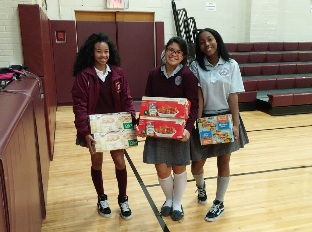 "Led by the ""Compassion Connection,"" the community outreach club at Preston High School in the Bronx, a record-breaking 4.4 tons of food was collected during the school's annual Thanksgiving drive. Nonperishable foods, including rice and soups, were donated to the Mercy Center, St. Raymond's and Our Lady of the Assumption, all in the Bronx, and to the Divine Compassion Food Pantry in Dover Plains."
