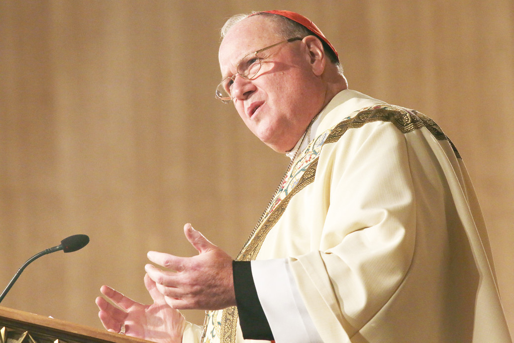 Cardinal Dolan delivers his homily to the congregation of 12,000 people.