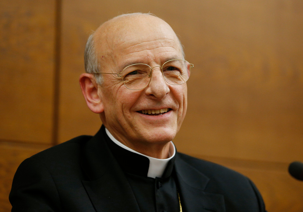 Spanish Msgr. Fernando Ocariz, the newly elected head of Opus Dei, is pictured during a media opportunity at the University of the Holy Cross in Rome Jan. 24. His appointment was approved the previous day by Pope Francis.