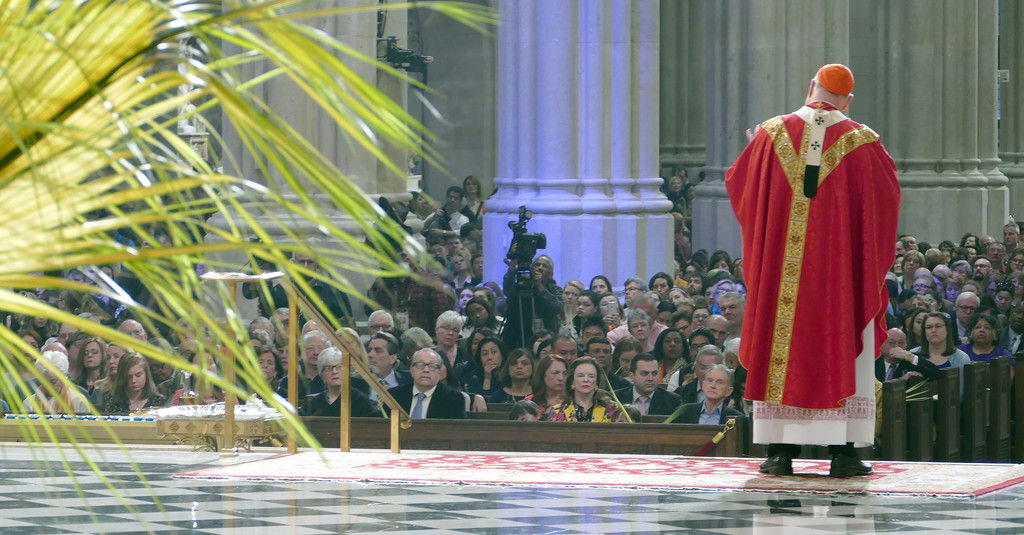 Palm branches, which grace the sanctuary, are an integral part of the gathering.
