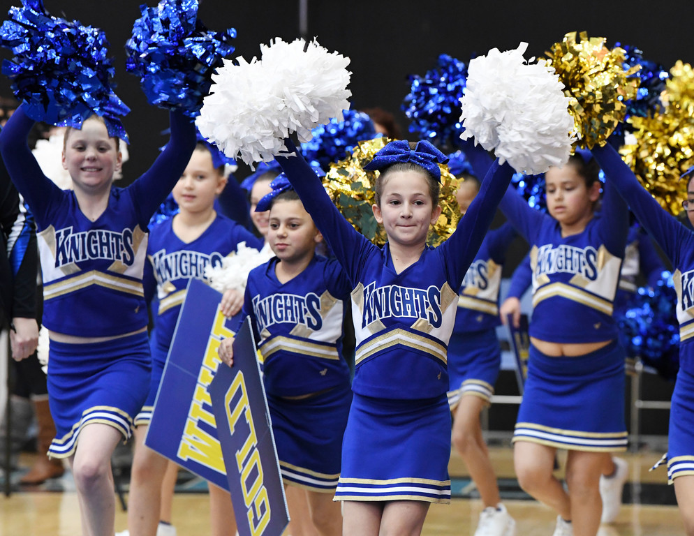 Debs from Annunciation in Westchester County are introduced at the competition.  They received a score for their performance, but were not eligible for the standings.