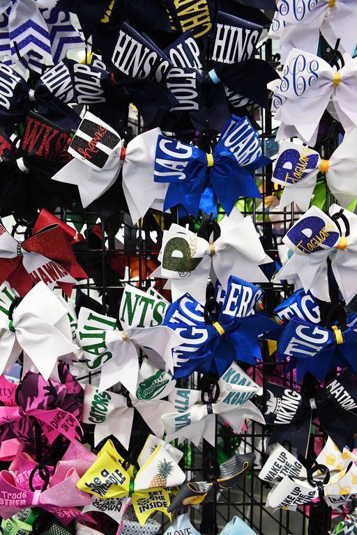 Bows are for sale at the competition.