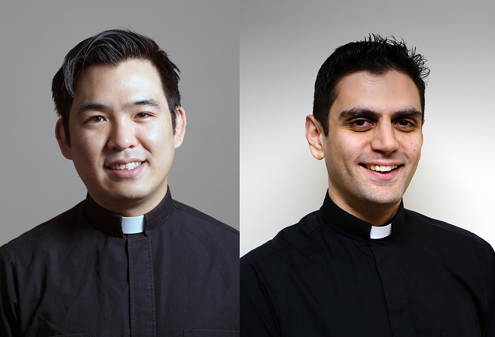 Father Daniel Siwoo Kim, M.M., left, Father Peter Latouf, M.M., right.