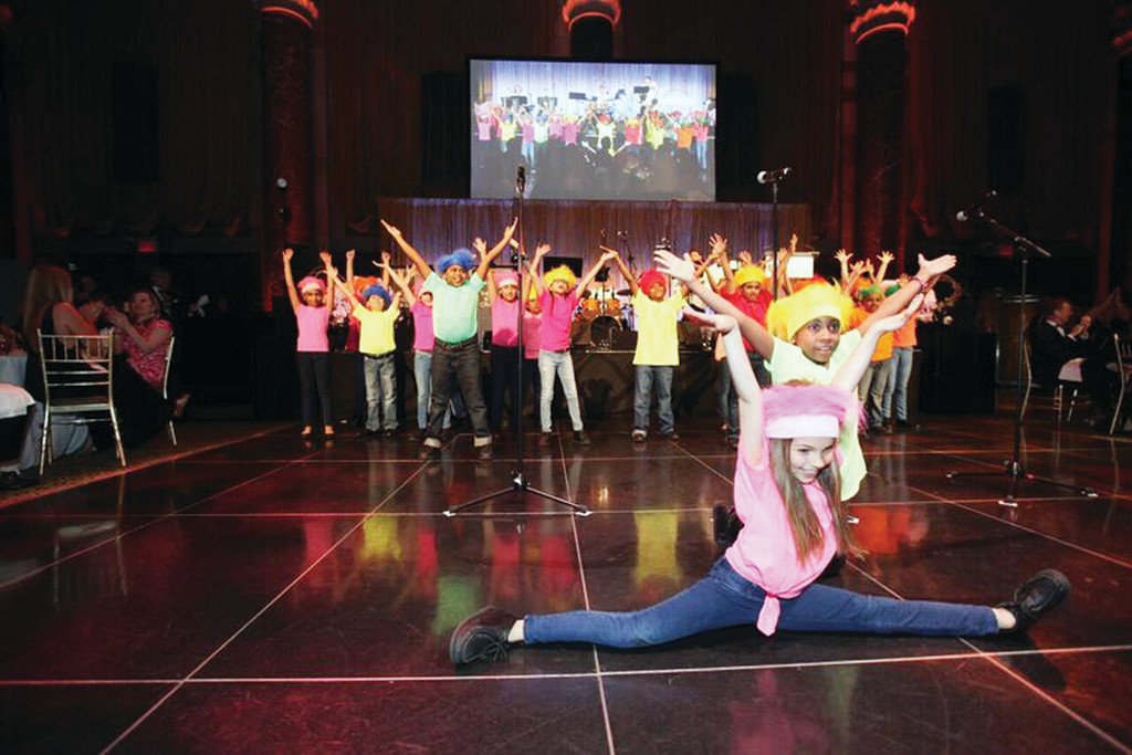 Students from Blessed Sacrament School, Manhattan; St. Raymond High School for Boys, Bronx, and Moore Catholic High School, Staten Island, participated in the Battle of the Boroughs performance at the Inner-City Scholarship Fund Friends Gala at Cipriani 42nd Street in Manhattan May 9.