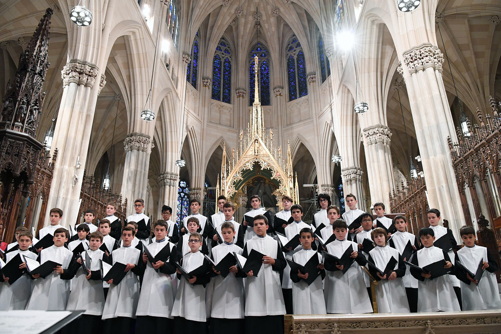 The 750-year-old boys' choir, Escolania de Montserrat, from the Montserrat Abbey in Catalonia, Spain, performs a late afternoon concert June 29 at St. Patrick's Cathedral in Manhattan.
