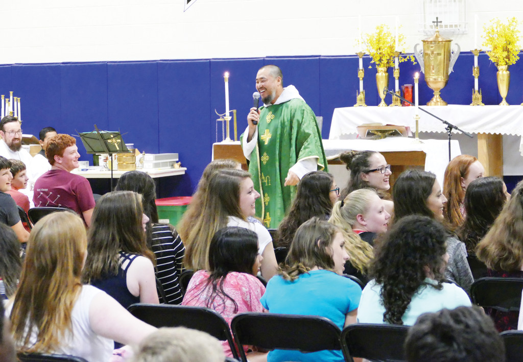 Father Ignatius Shin, C.F.R., discussed forgiveness and mercy in his homily.