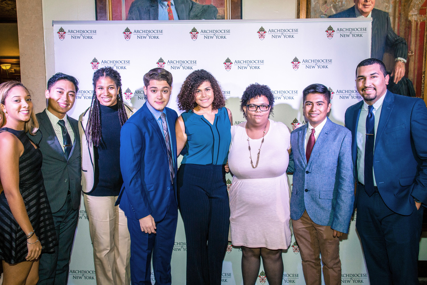 Pierre Toussaint scholars and alumni were among the 300 guests attending the Pierre Toussaint Scholarship Fund Awards Dinner at the New York Athletic Club in Manhattan Oct. 10.