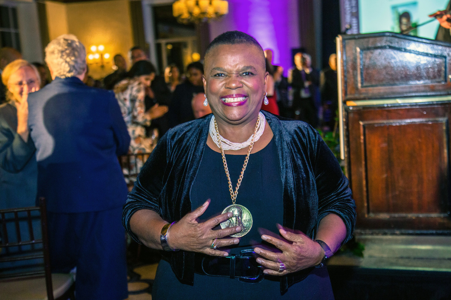 Dr. Pernessa C. Steele, founder and CEO of The Balm in Gilead, was a 2017 Pierre Toussaint medallion recipient.