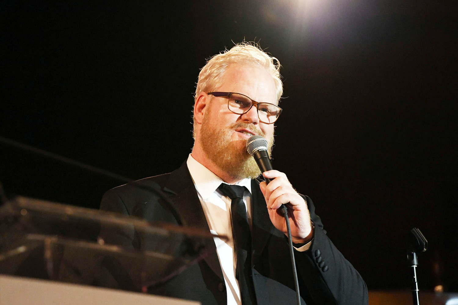 Comedian and actor Jim Gaffigan performs at the gala.