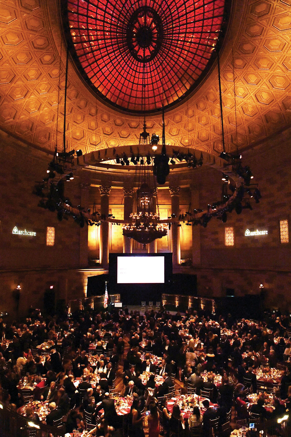 An overall view of Gotham Hall, the site of the gala, which was attended by more than 500 guests and raised a record $1.5 million for ArchCare, the archdiocesan health care ministry.