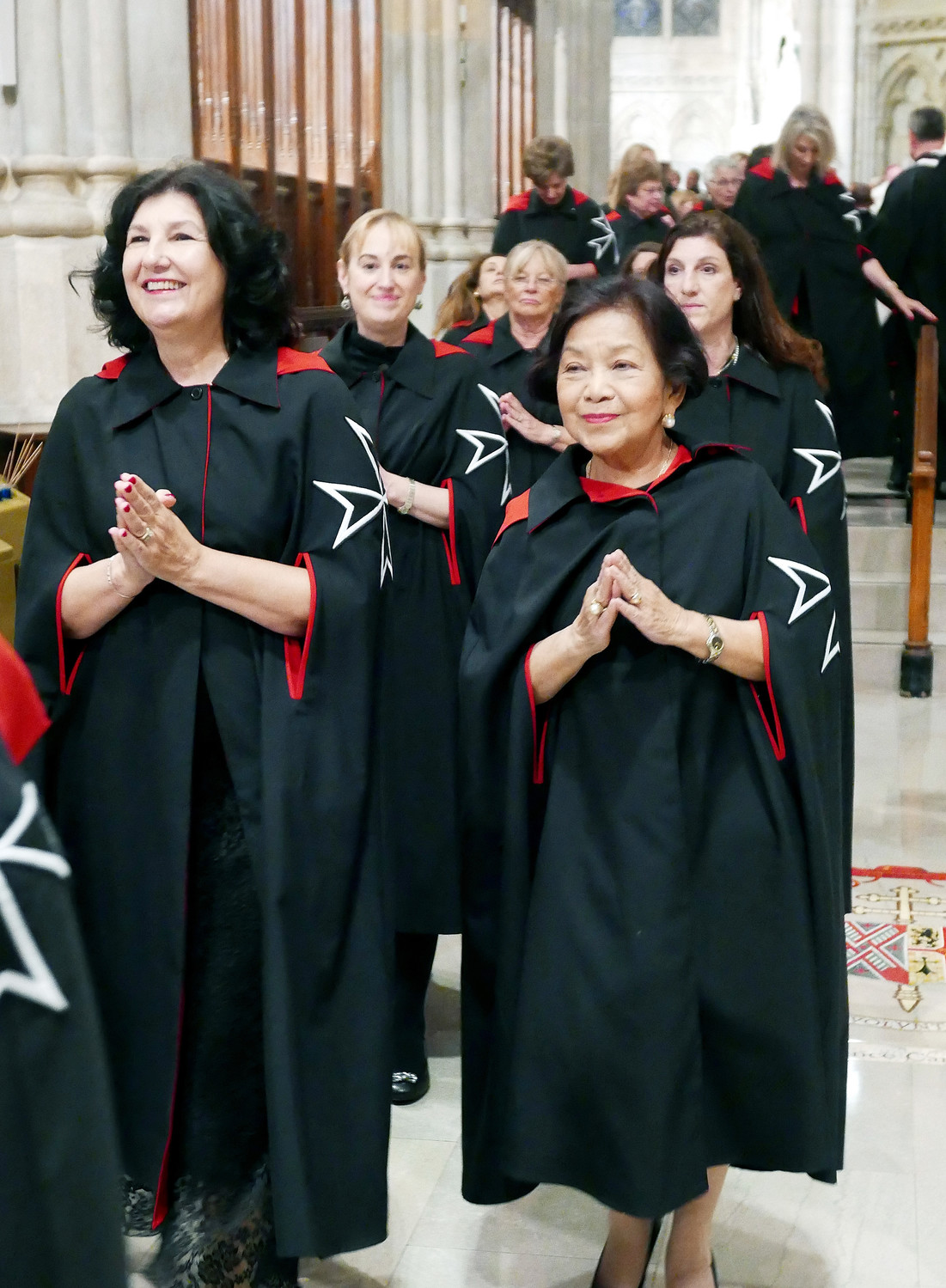 Dames of Malta process in the cathedral.