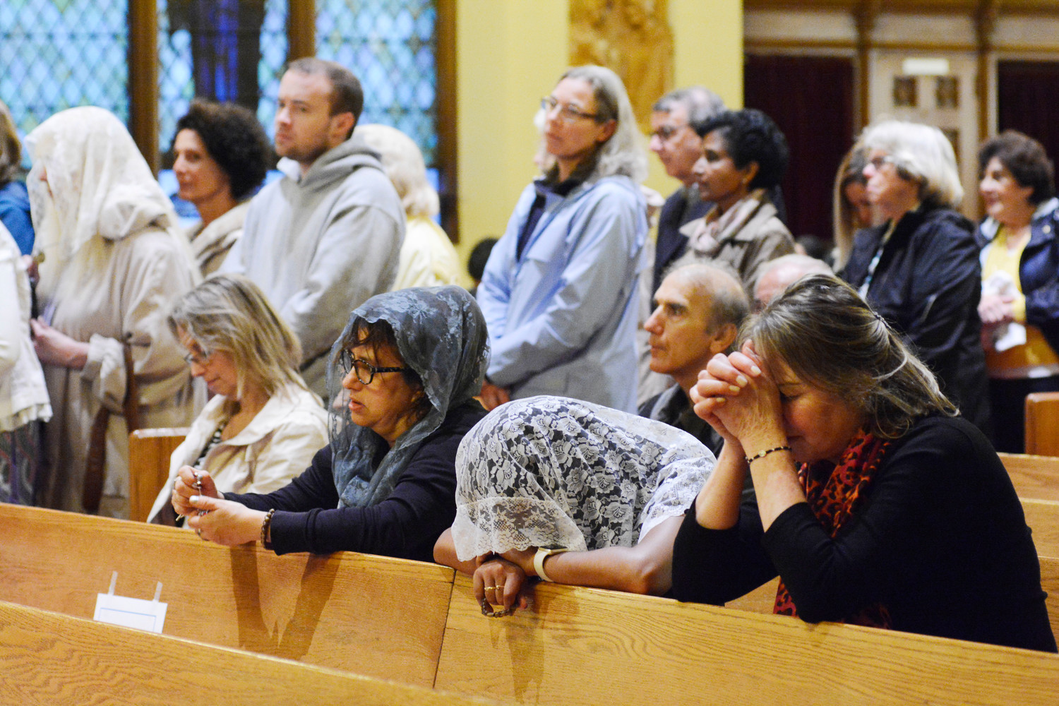 A vigil Mass honoring St. Padre Pio is offered at Immaculate Heart of Mary Church in Scarsdale Oct. 29. It was the final stop of a national tour of the saint's relics, which began in the archdiocese in September.