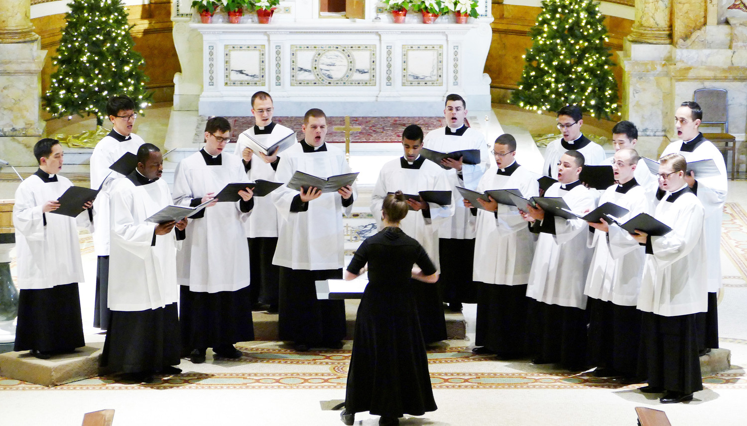 The Schola Cantorum of St. Joseph's Seminary, Dunwoodie, performs an Advent-Christmas concert Dec. 3 in the seminary chapel under the direction of Dr. Jennifer Donelson, associate professor and director of music at St. Joseph's.