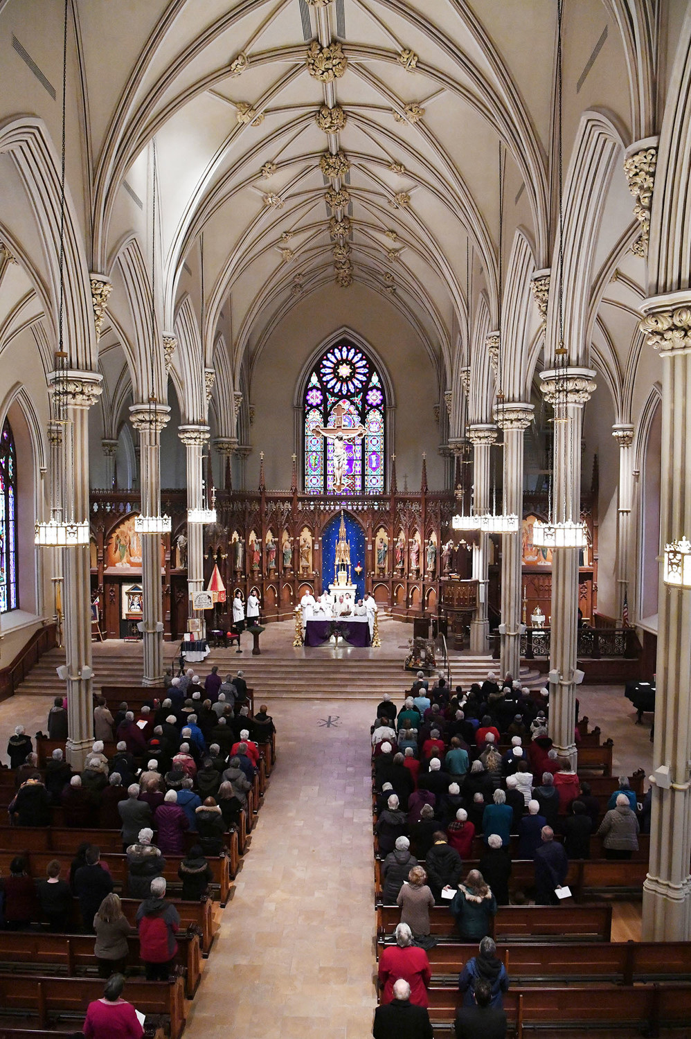An overview of the basilica during the consecration.