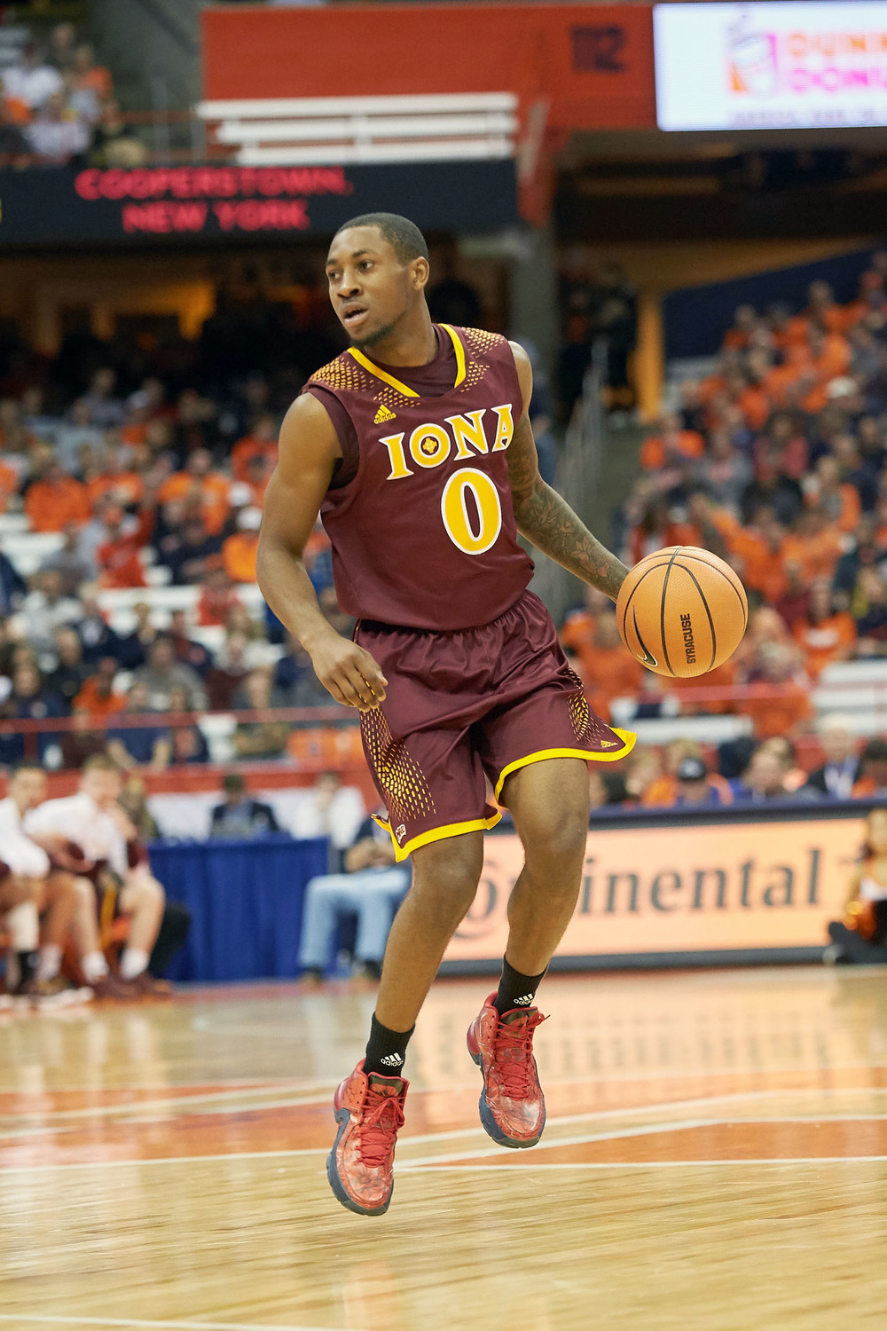 Iona junior point guard Rickey McGill runs the offense against Syracuse University Nov. 14.