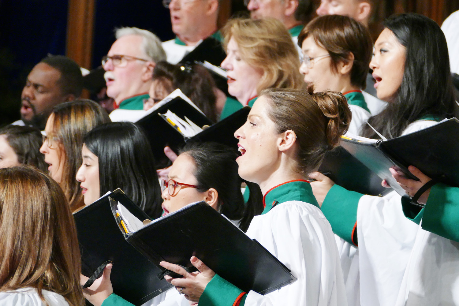 "The St. Patrick's Cathedral choir sings at Midnight Mass Dec. 25. The choir performed ""O Come, All Ye Faithful'' during the entrance procession at the Mass."