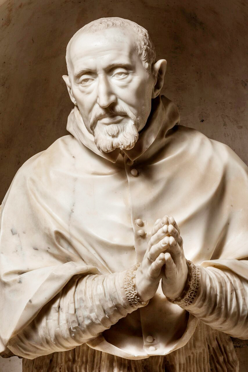 The showpiece in the exhibit is the bust of St. Robert Bellarmine, an Italian Jesuit cardinal who was one of the Church's leading scholars during the Counter-Reformation. He was canonized and declared a doctor of the Church in 1930. He is the patron saint of Fairfield University. The bust of Bellarmine was made in 1623-1624 by Gian Lorenzo Bernini, a renowned artist of the Roman Baroque era.