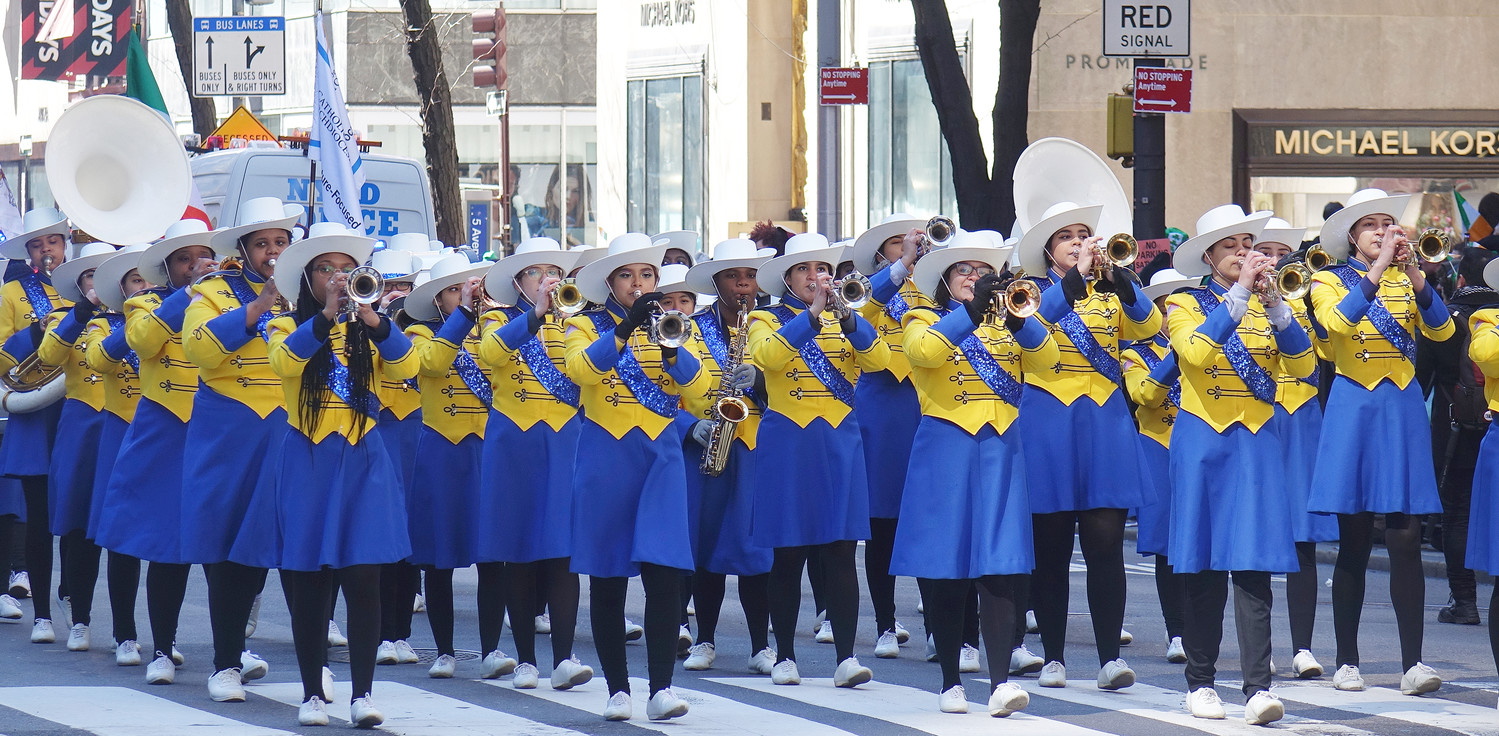 The appearance of the Cathedral High School marching band is always one of the high notes of the New York City St. Patrick's Day Parade, and this march dedicated to Catholic education, was no exception.