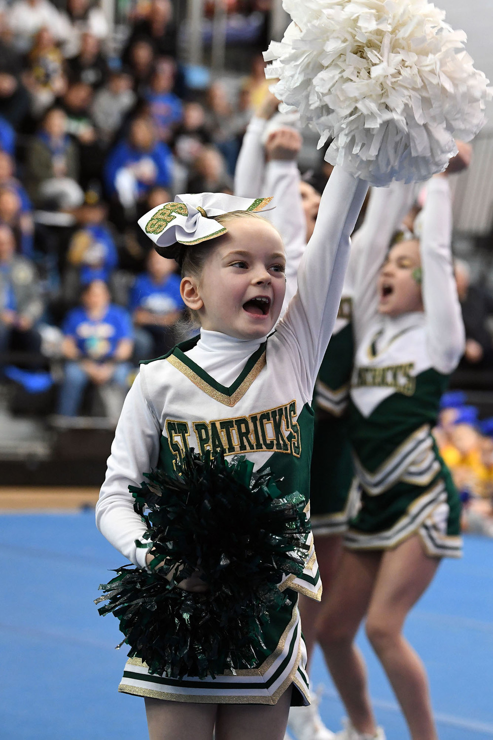 St. Patrick won the Debs Small Division at the archdiocesan CYO Cheerleading Championships at the College of Staten Island March 24. Twenty-five teams representing 11 parishes, 10 from Staten Island, participated.