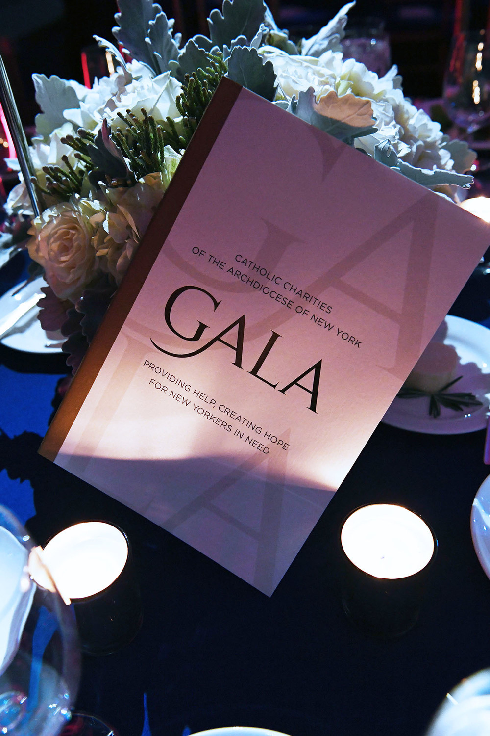 A gala program outlines the evening's events.