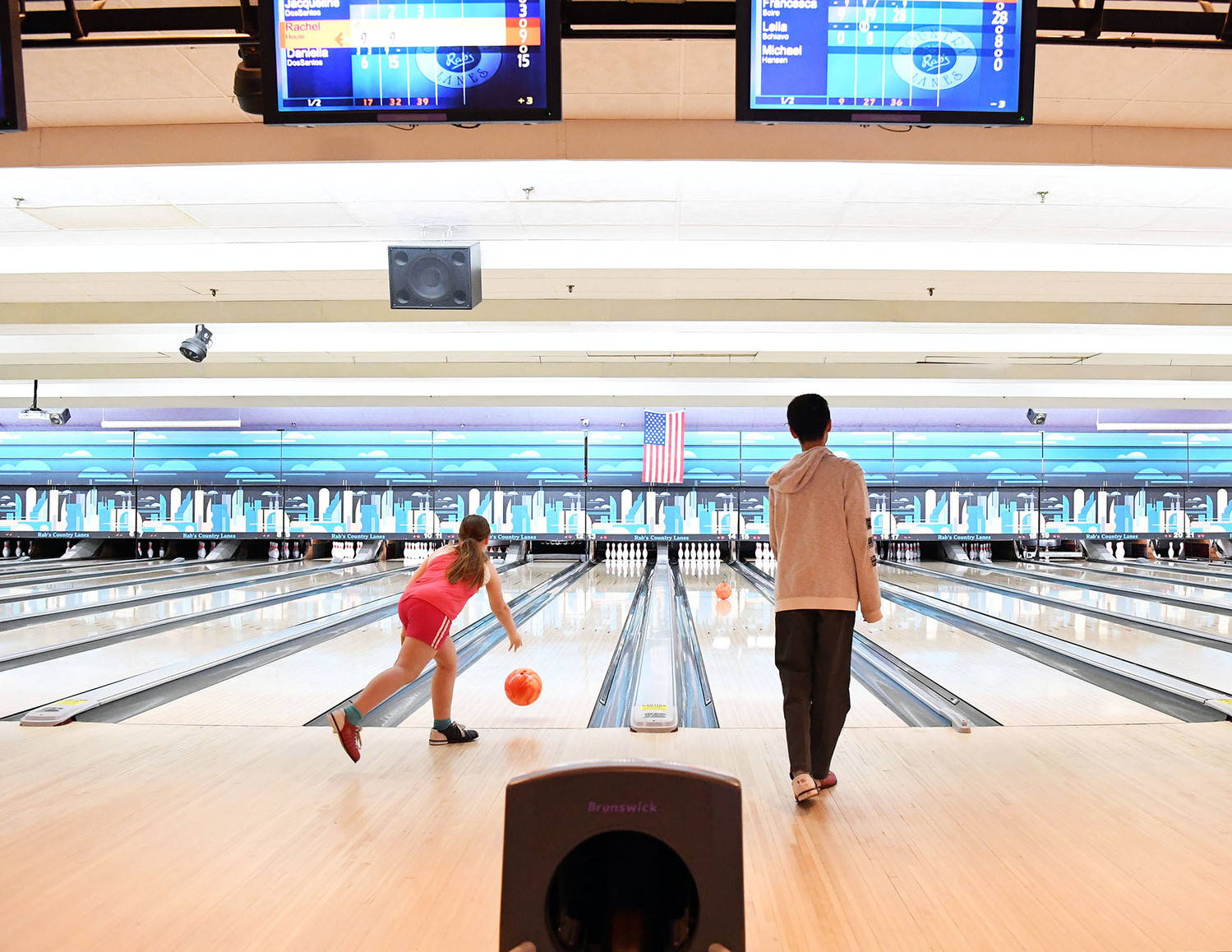Bowlers aim for strikes during Staten Island CYO bowling league action at Rab's Country Lanes on Staten Island April 17. Staten Island CYO started last fall its fun and popular bowling program, the only CYO bowling league in the archdiocese.