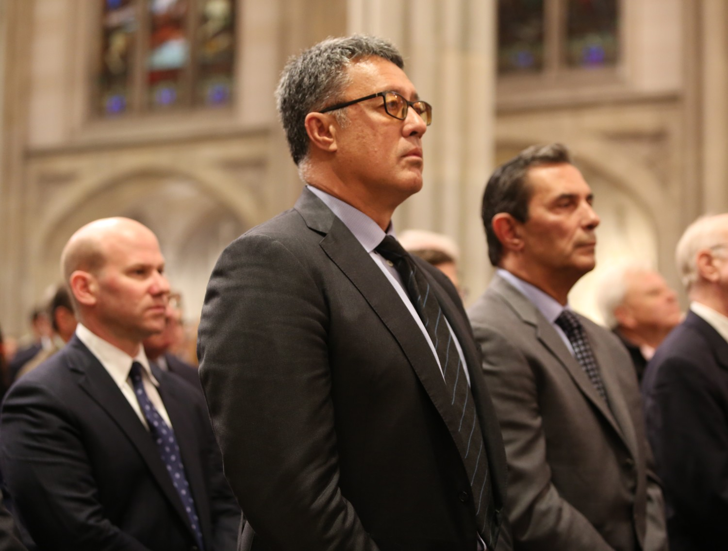 Former New York Mets Ron Darling and Lee Mazzilli were among Rusty Staub's former teammates who attended the Memorial Mass at St. Patrick's Cathedral April 25.