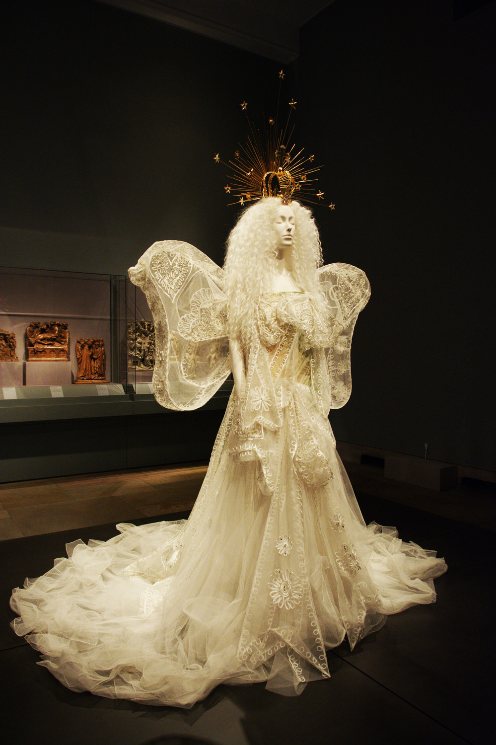 """Madonna"" Wedding Ensemble, from autumn/winter 2005-2006 haute couture, from the House of Dior and John Galliano (Courtesy Dior Heritage Collection, Paris)."