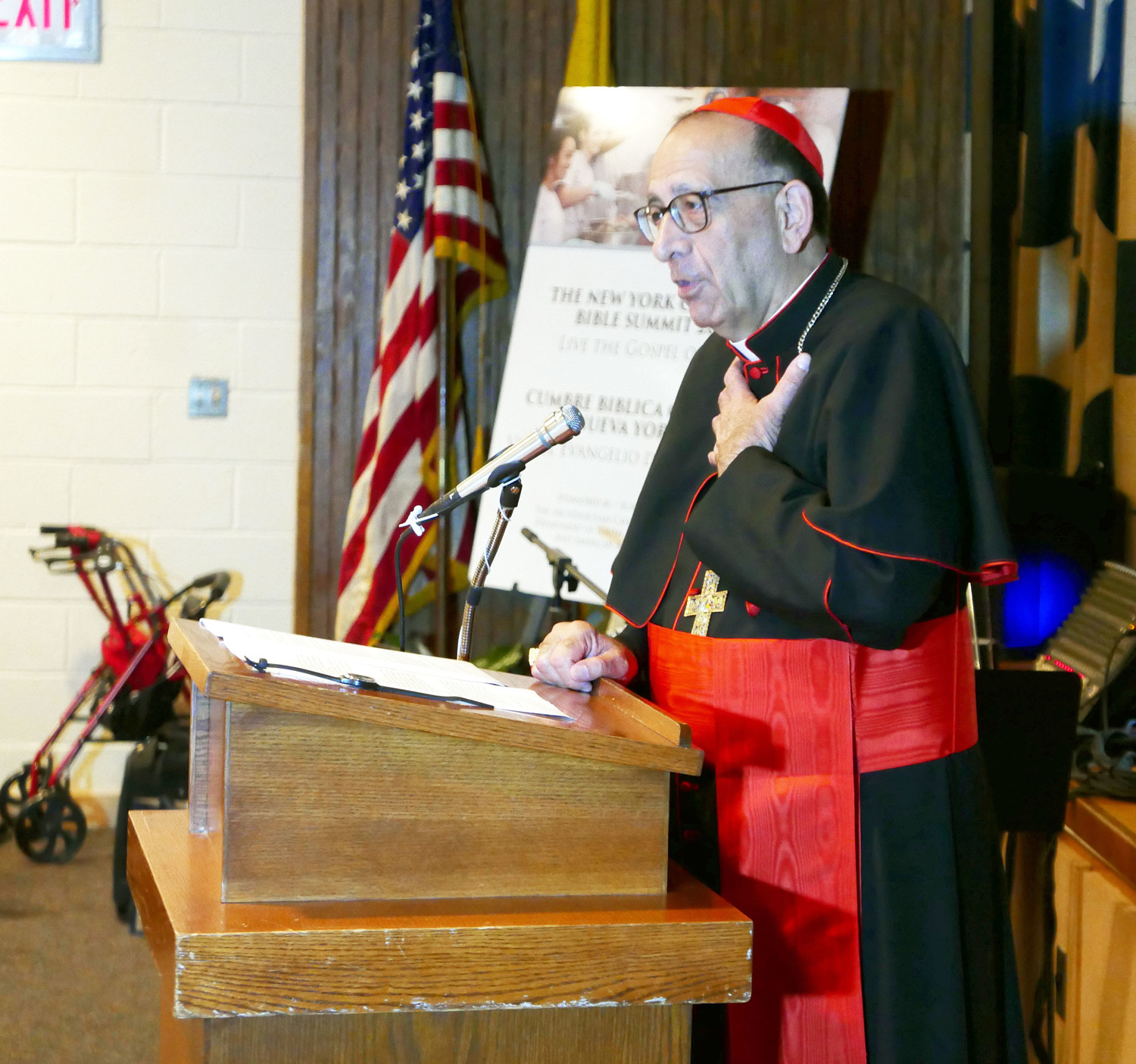 Cardinal Juan José Omella of Barcelona, Spain, bottom right, presented the keynote in Spanish.