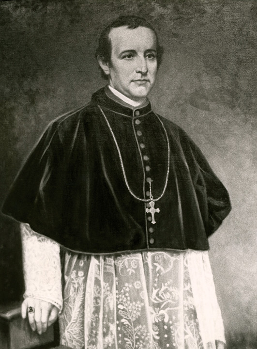 A portrait of Archbishop John Hughes