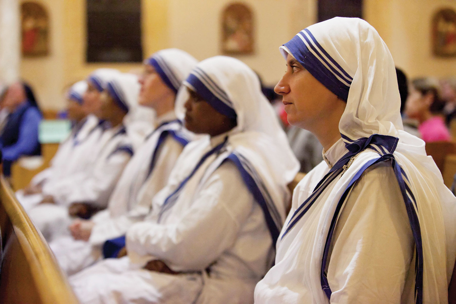 The religious congregation founded by St. Mother Teresa in 1950, attended the Unity Mass at St. Francis of Assisi.