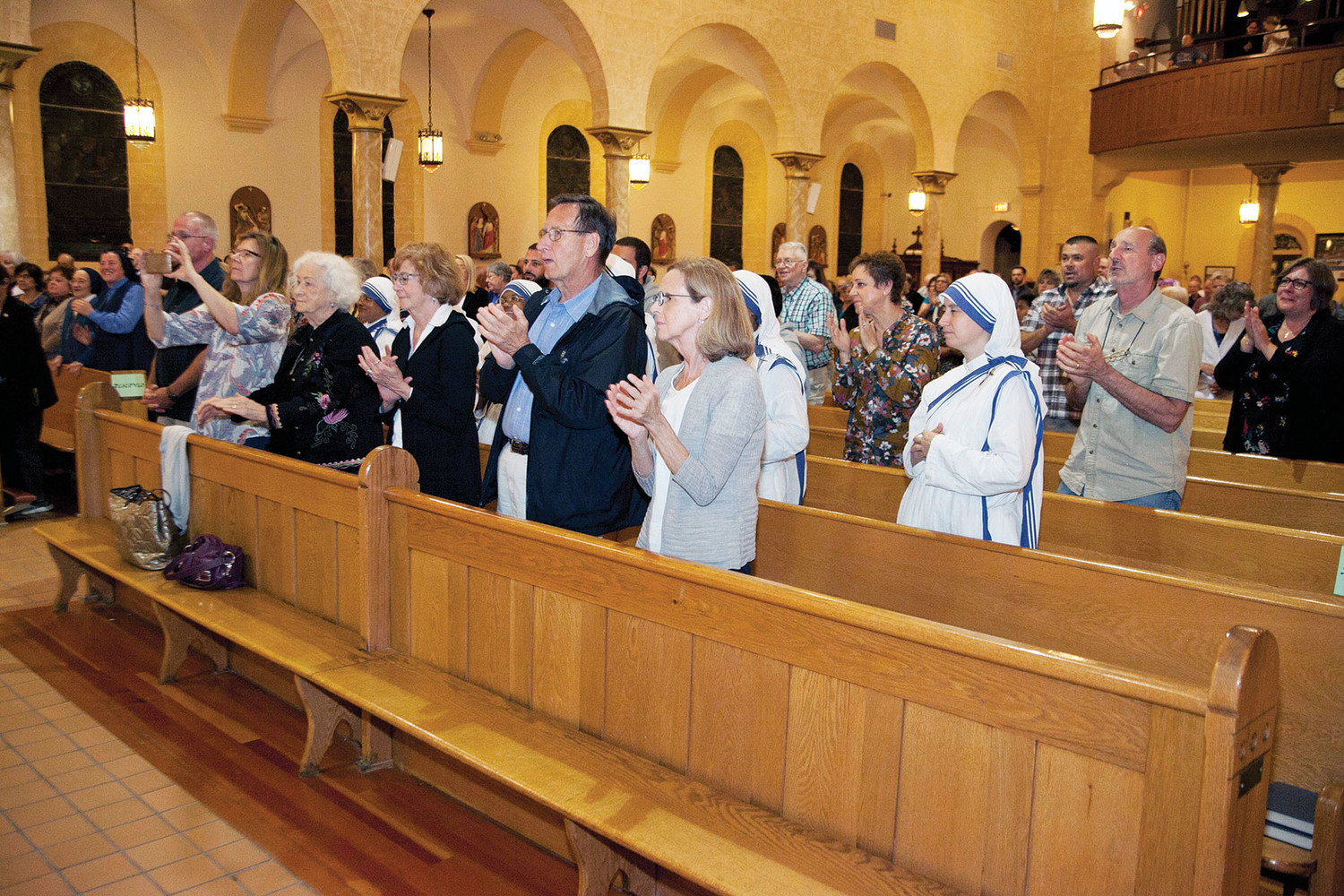 A congregation of 300 attended the Unity Mass Sept. 20.