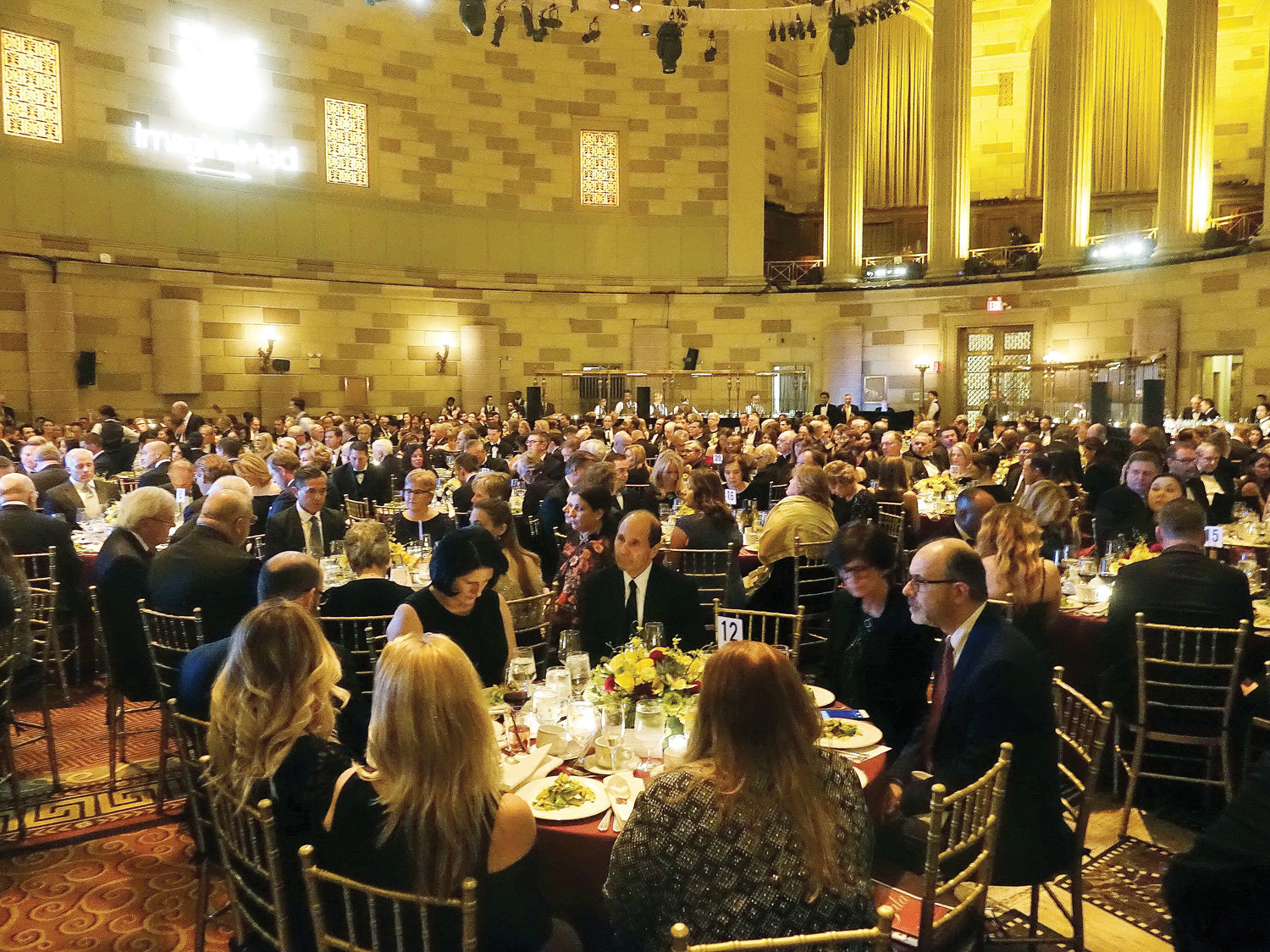 More than 500 people attended the gala at Gotham Hall in Manhattan. A record $1.5 million was raised to assist the health and social needs of New York's elderly, poor and people with special needs.