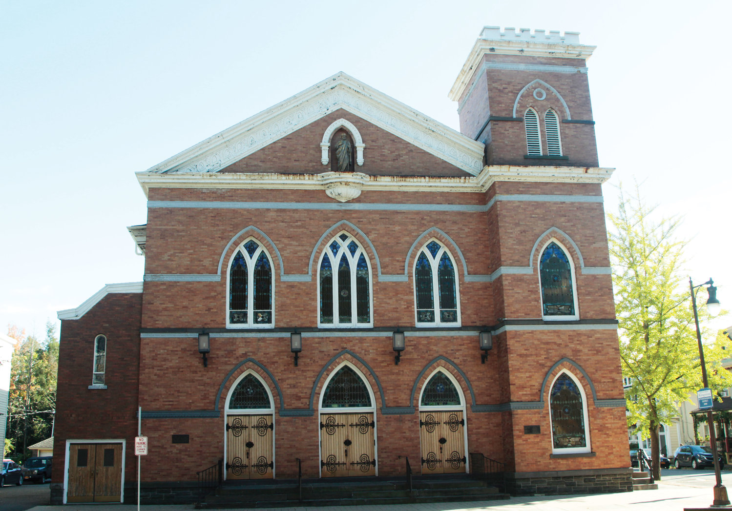 The church served as the Old Dutch Church and later an armory during the Civil War before it was sold and became St. Joseph's Church.