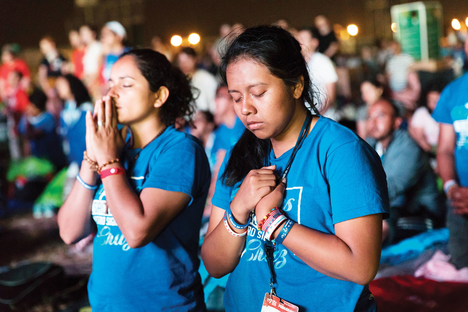 Many pilgrims were in deep prayer, inspired by contemplative choir music and the words of wisdom from the Holy Father.