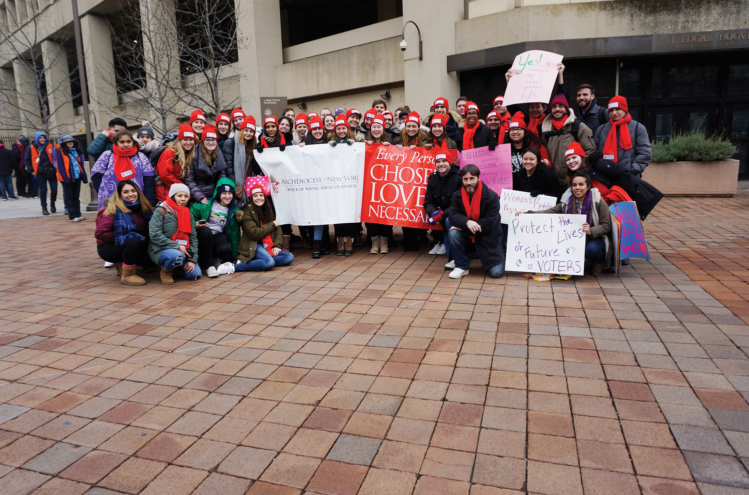 Many pilgrims with the archdiocesan Young Adult Outreach office participated in the March for Life.