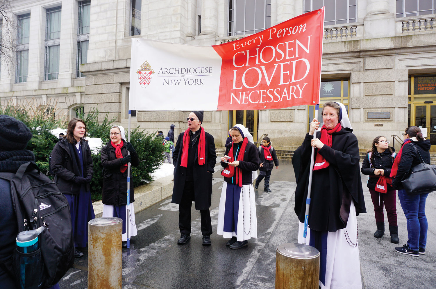 Marchers included Auxiliary Bishop Peter Byrne and members of the Sisters of Life.