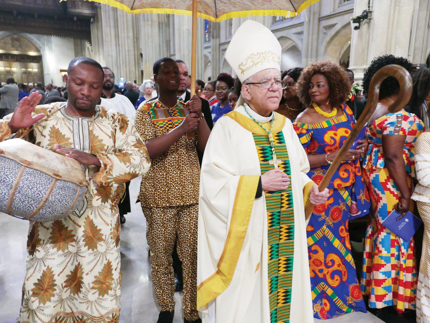 Auxiliary Bishop Guy Sansaricq of Brooklyn was the principal celebrant of this year's Black History Month Mass at St. Patrick's Cathedral Feb. 3.