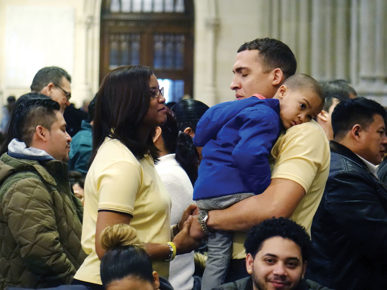 The annual World Marriage Day Mass for Hispanic/Latino couples was offered at St. Patrick's Cathedral Feb. 10. An estimated 550 couples participated this year; many of the couples were accompanied by their children.