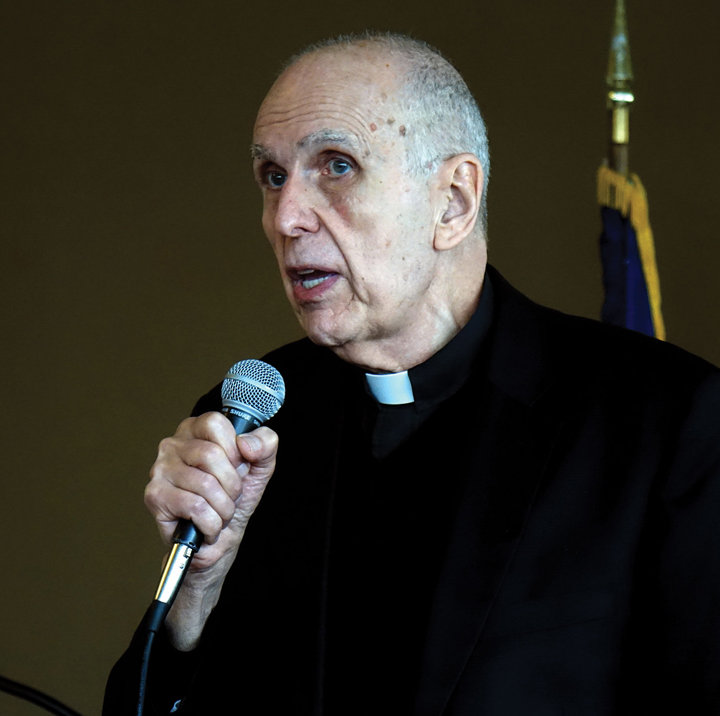 Father Anthony Ciorra's keynote address at the annual Communion breakfast at The Riverview in Hastings-on-Hudson Feb. 23.