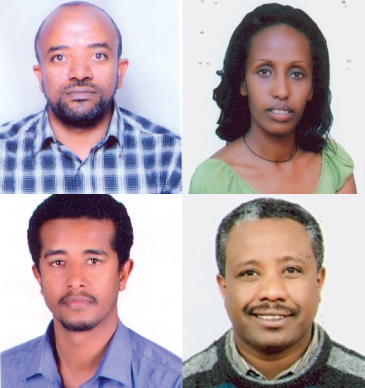 REST IN PEACE—Four Catholic Relief Services staff members on their way to a training session in Nairobi, Kenya, were among the passengers aboard an Ethiopian Airlines flight that crashed moments after takeoff in the east African nation. Pictured in this composite photo are Sintayehu Aymeku, Sara Chalachew, Mulusew Alemu and Getnet Alemayehu.