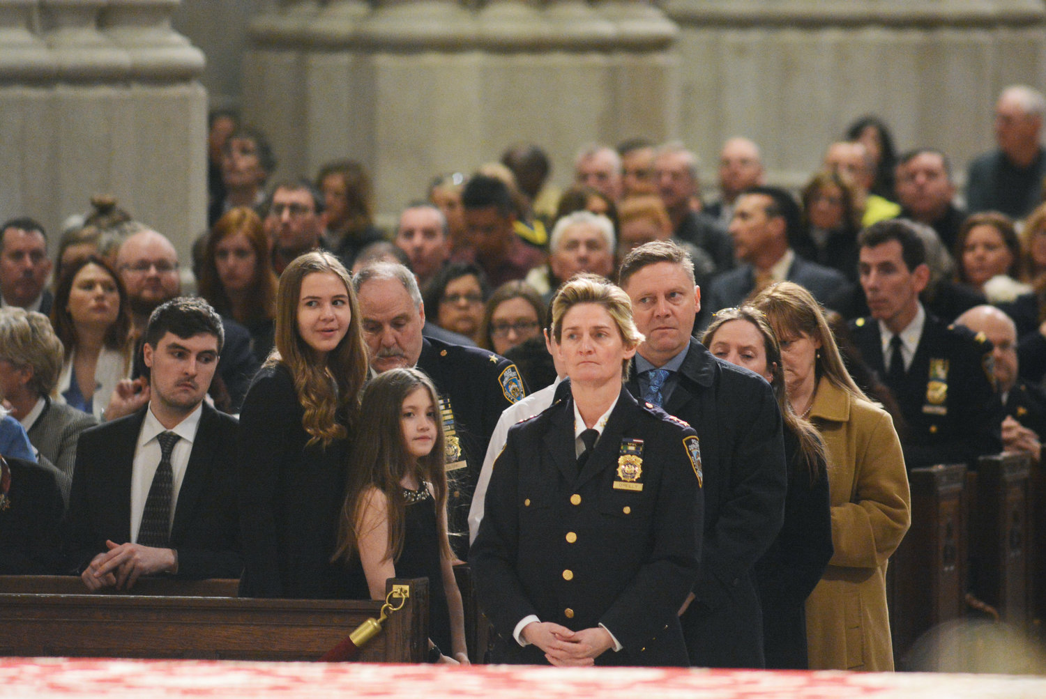 Assistant Chief Kathleen O'Reilly, commanding officer of Manhattan North, attends the annual NYPD Holy Name Society Mass at St. Patrick's Cathedral March 24. She was honored as Person of the Year at the 101st annual Holy Name Society Mass and Communion breakfast.