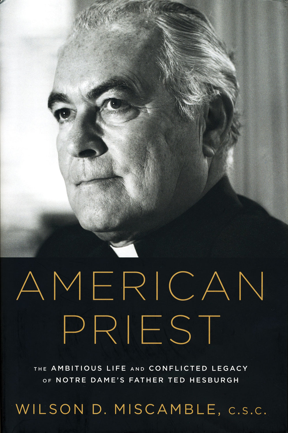 A photo of the late Father Theodore M. Hesburgh, C.S.C., who served as president of the University of Notre Dame for 35 years, graces the book jacket of a recently published biography about his life and legacy at the university and in the Church.
