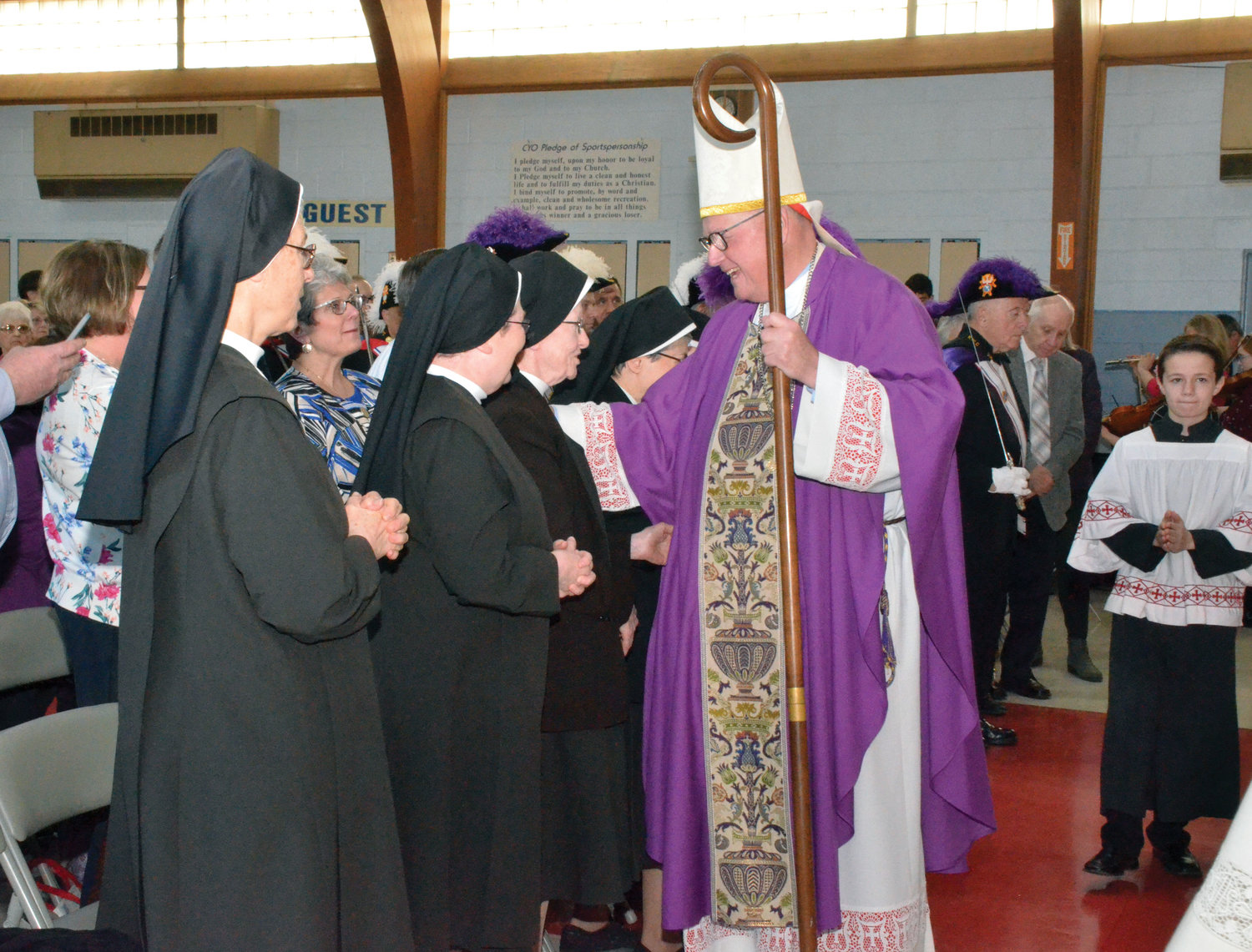 The Carmelite Sisters for the Aged and Infirm from Germantown were honored guests.