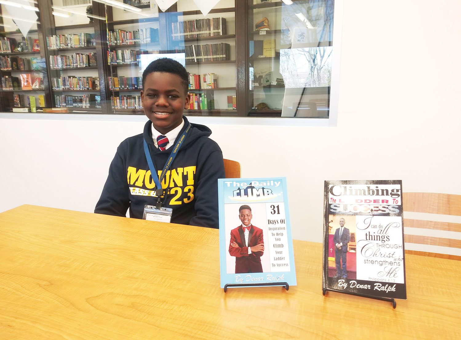 "Denar Ralph, an eighth-grade student at Mount St. Michael Academy in the Bronx, has written two advice books on achieving success. In one of the books, he quotes Philippians 4:13, ""I can do all things through Christ who strengthens me."""