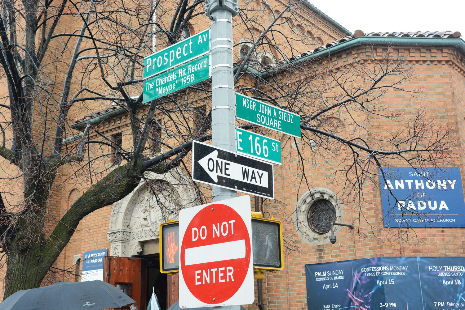 The corner of Prospect Avenue and East 166th Street in the Bronx was ceremonially renamed for The Chantels' musical group April 5.
