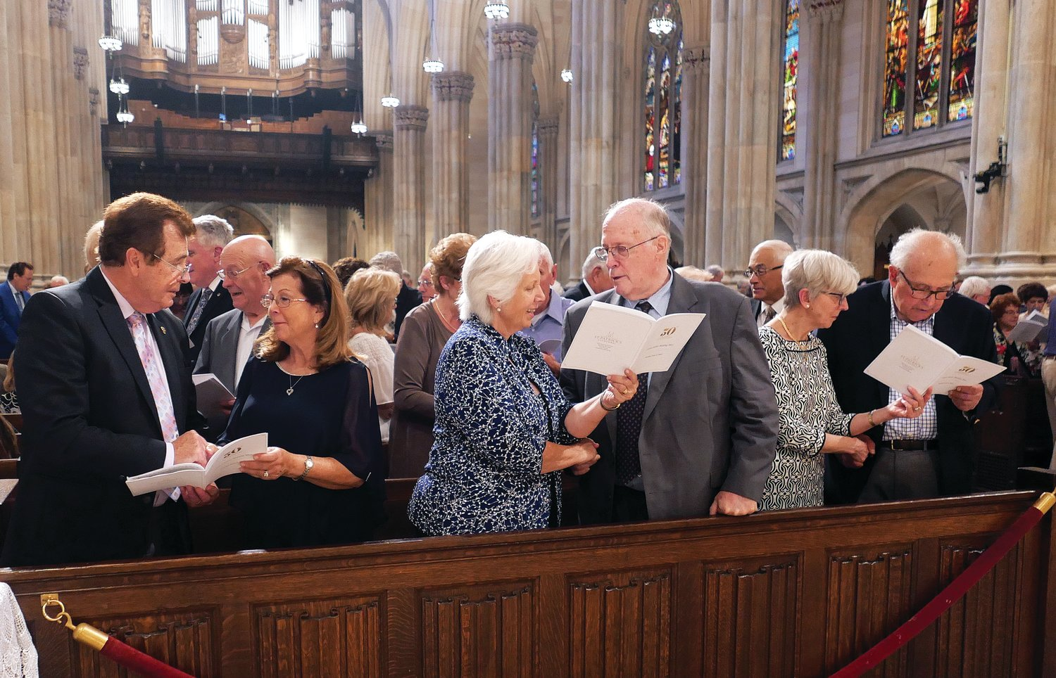 Couples renew their marriage vows at the Golden Jubilee Wedding Mass celebrated by Cardinal Dolan at St. Patrick's Cathedral June 2. Almost 300 couples celebrating 50 years of marriage this year registered to attend the Mass.