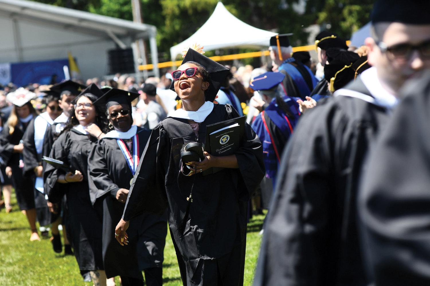 Mount St. Mary College recognized the recipients of 120 master's degrees and 480 bachelor's degrees at its 56th annual Commencement Ceremony at Dominican Center Field on campus in Newburgh May 18.