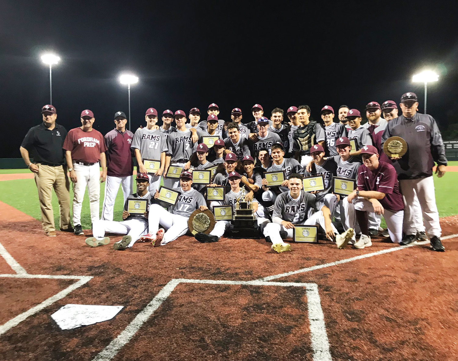 Fordham Prep captured its first CHSAA city baseball title since 2009 by defeating Archbishop Stepinac 4-0 at St. John's University in Queens June 6.
