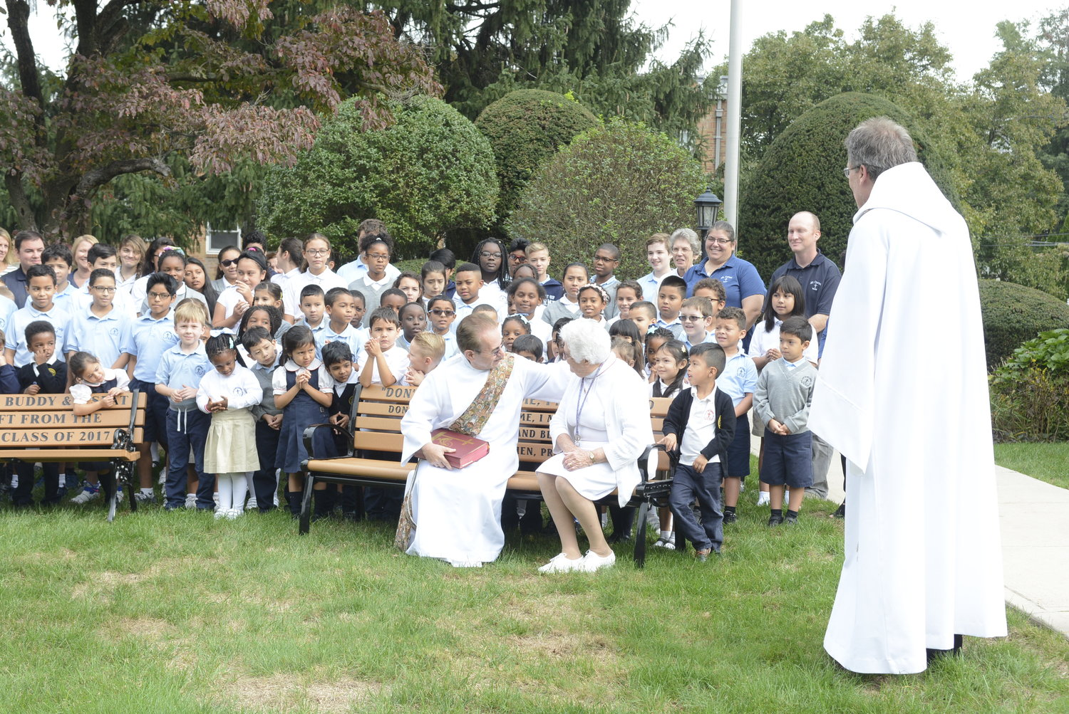 Oct 02, 2018  Our Lady of Mount Carmel School in Elmsford, NY takes proactive steps to fight isolation and promote inclusion by blessing the three Buddy Benches to be installed on their school playground. If a child sits on a bench alone, it is a signal to the other kids to ask him or her to play. With pastor Fr Robert Norris, Ph.D., deacon Daniel Moliterno, principal Sr Mary Stephen Healey, R.D.C.  Patrick Salgado, 8th gr announces day