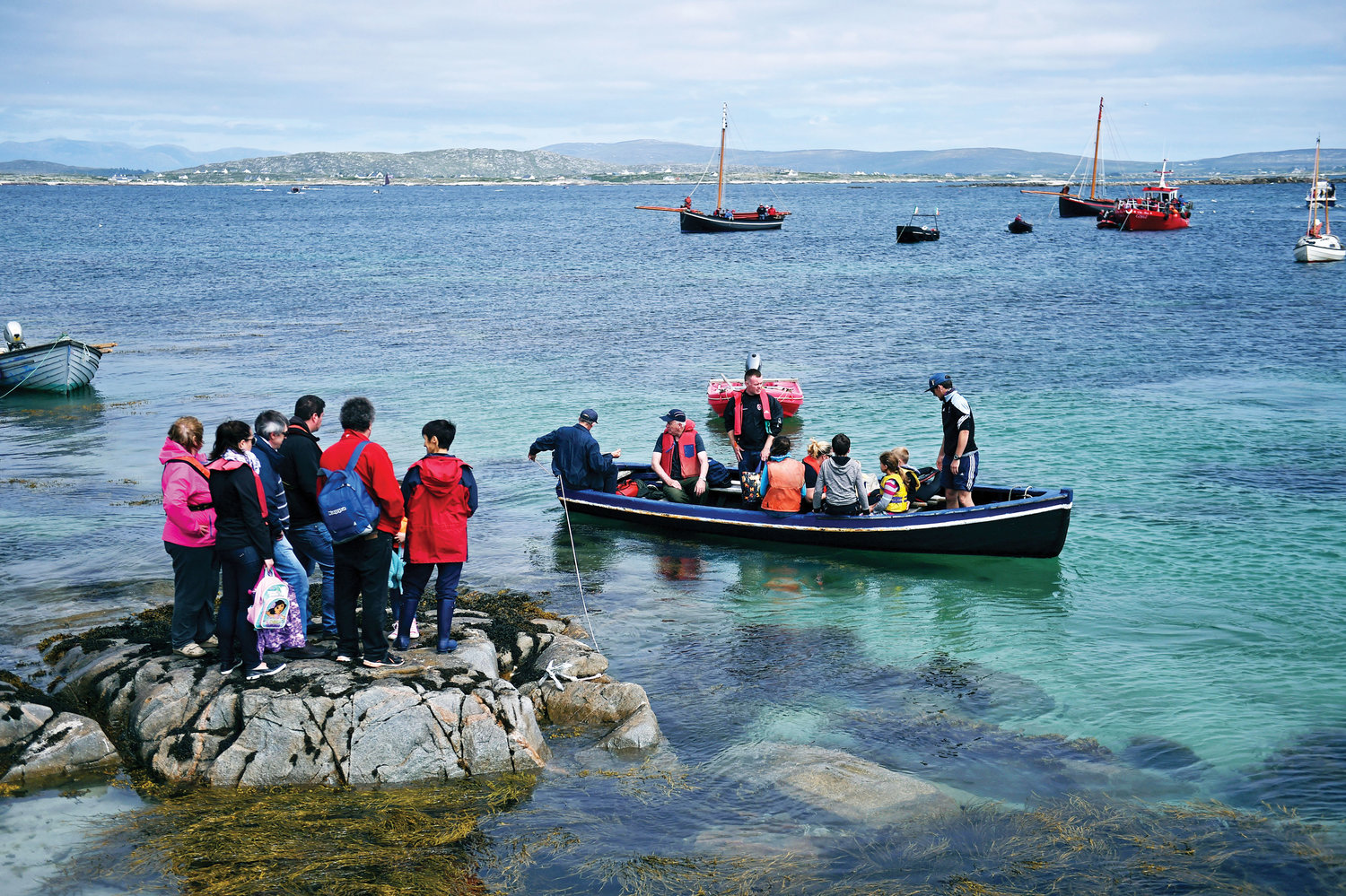 VOYAGE—Seafarers and other worshippers from Carna, Ireland, are seen in 2016 during the annual pilgrimage to MacDara's Island to celebrate Mass in honor of St. MacDara, patron saint of fishermen.
